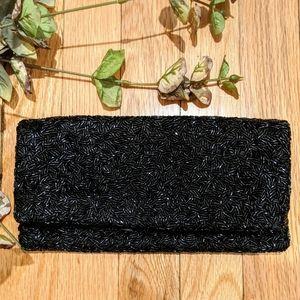 {Banana Republic} Black Beaded Sequin Clutch